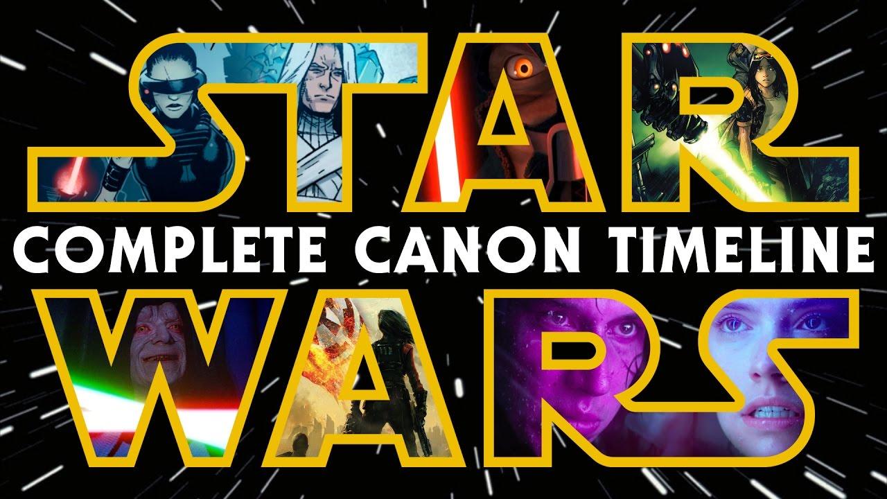 Star Wars: la Timeline aggiornata e completa del Nuovo Canone