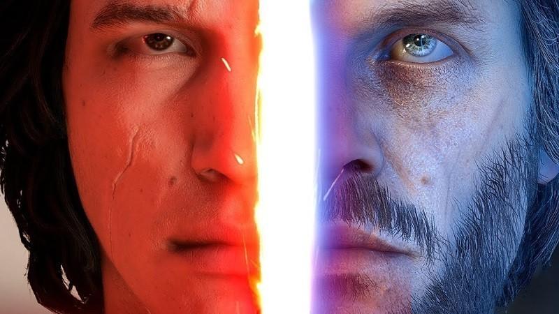 Star Wars the last jedi duello Luke skywalker kylo Ren Battlefront II