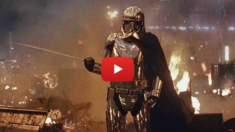 """The Last Jedi: guarda la scena tagliata con il """"duello alternativo"""" tra Phasma e Finn. Meglio questo finale?"""