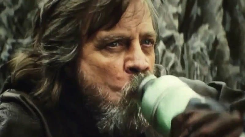 Star Wars latte Luke Skywalker blue green milk