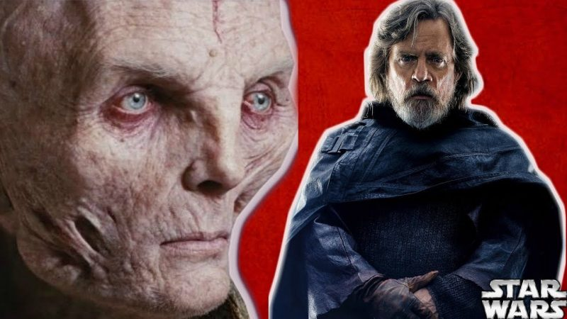 luke skywalker e snoke mark hamill star wars