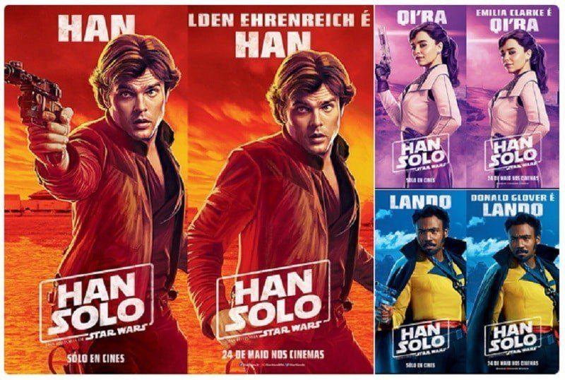 Solo censurato ancora? Sparite le armi dai nuovi poster del film di Star Wars