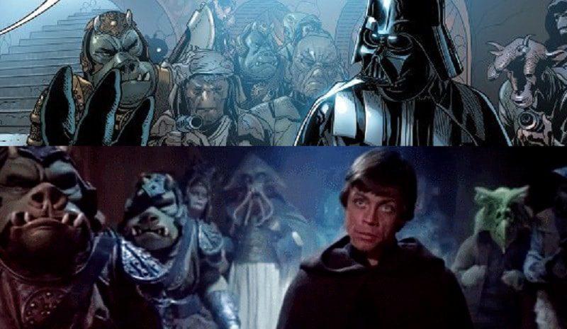 Il Ritorno dello Jedi e Darth Vader #1, il sorprendente confronto tra film e fumetto di Star Wars