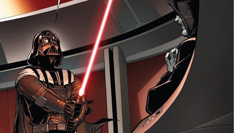 Star Wars: Darth Vader crea la spada rossa e Palpatine spiega il rituale oscuro.