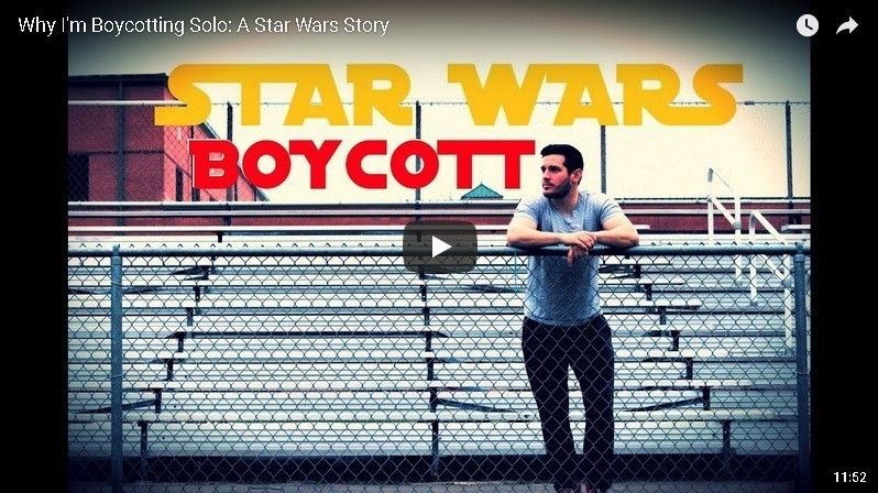 Star Wars: lo youtuber che boicotta Solo e insulta Disney e le donne