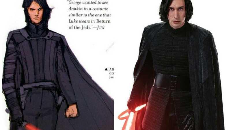 Star Wars Concept Art Kylo Ren Anakin Skywalker Vendetta dei Sith