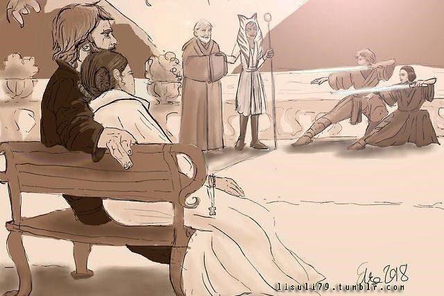 "Ahsoka incontra Luke e ""salva"" Anakin in un fan-fumetto di Lisuli79 su Star Wars"