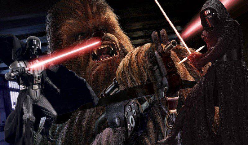 star wars chewbacca kylo Ren blaster