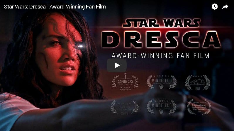 star wars dresca fan film youtube video