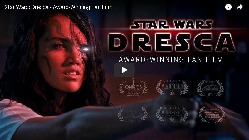 star wars dresca fan film youtube video