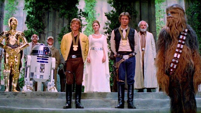 star wars episodio IV finale una nuova speranza