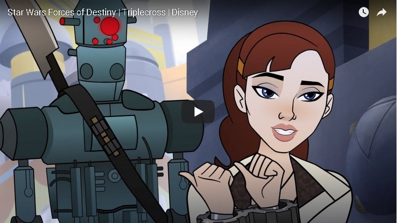 star wars forces of destiny qi'ra triplecross video youtube disney lucasfilm