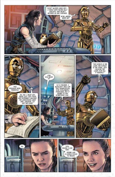 star wars poe dameron sacri testi jedi antichi rey 28 fumetto marvel