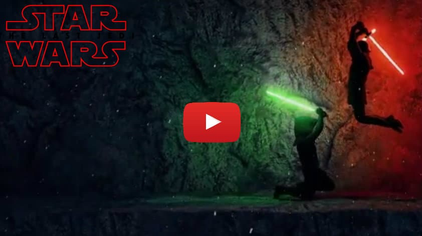 star wars kylo ren video duello scontro luke skywalker concept originale