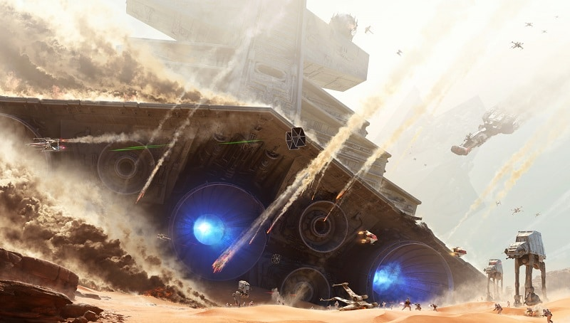 star wars destroyer down jakku battaglia