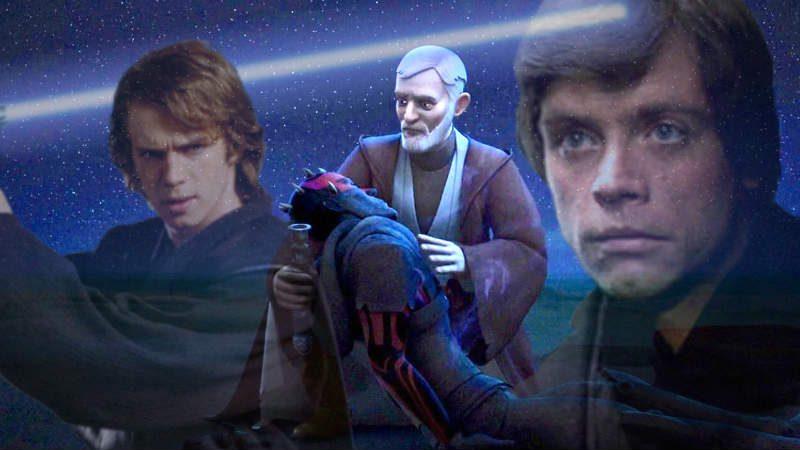star was kenobi prescelto anakin luke skywalker rebels maul