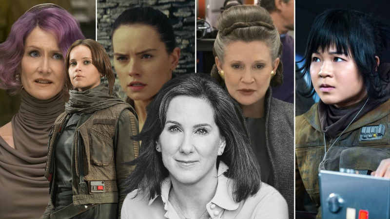 Kathleen Kennedy star wars donne femminili jyn erso rey rose leia organa cinema
