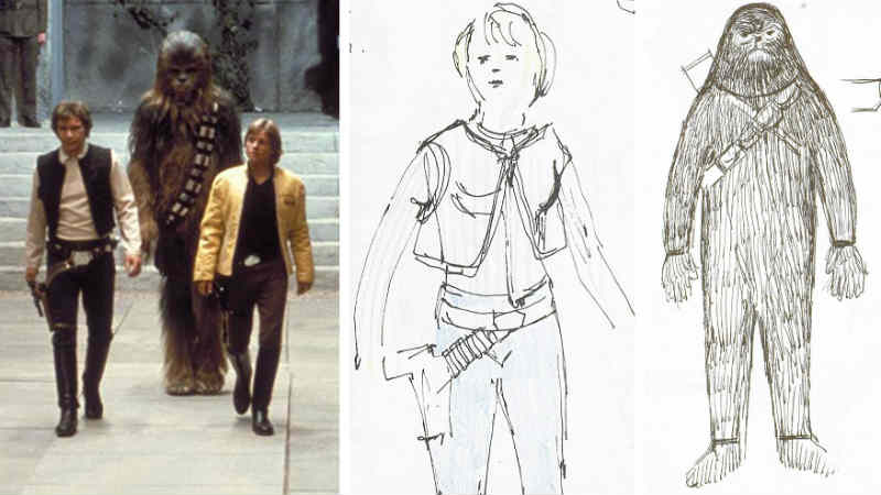 Star Wars studi schizzi sketchbook John Mollo costumi