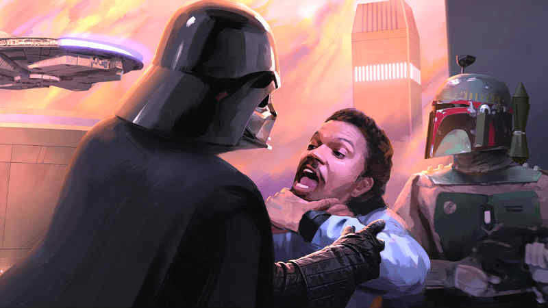 darth vader e lando marvel comics fan art