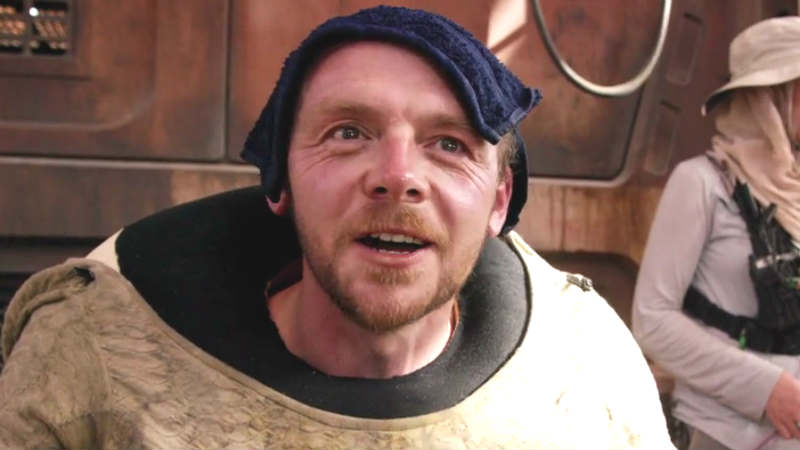 simon pegg star wars The Mandalorian