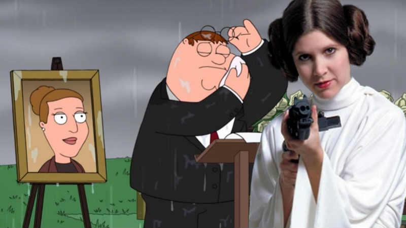 Star Wars: il meraviglioso funerale dei Griffin a Carrie Fisher (VIDEO)