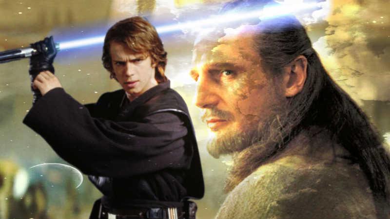 Star Wars anakin skywalker qui gon jinn forza lato oscuro