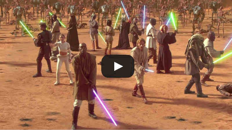 star wars battaglia geonosis film attacco dei cloni video battlefront 2 II