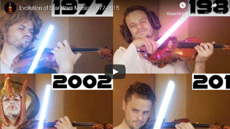 star wars evoluzione della musica colonna sonora video youtube