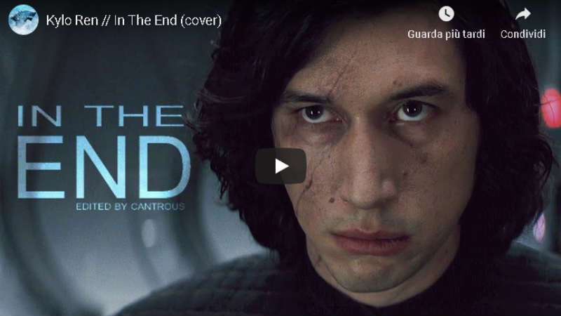 star wars kylo ren omaggio video tributo in the end youtube