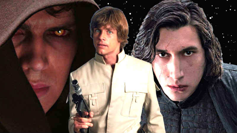 Star Wars: il mistero del sangue Skywalker. Differenze tra Anakin/Luke/Ben
