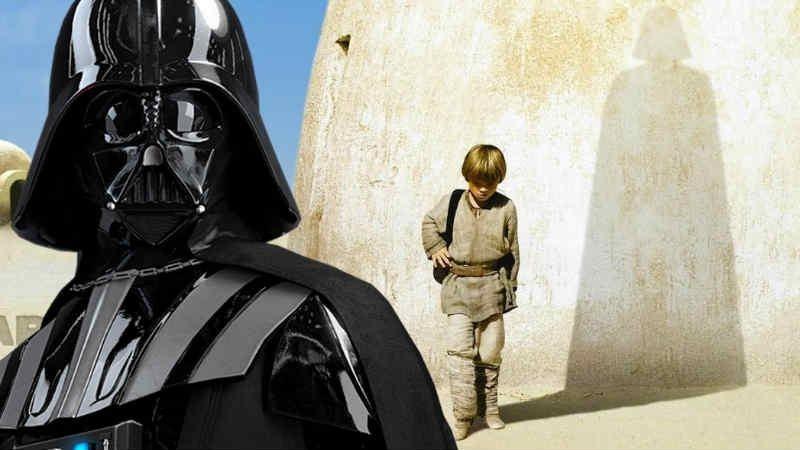 star wars poster episodio i minaccia fantasma ombra vader anakin