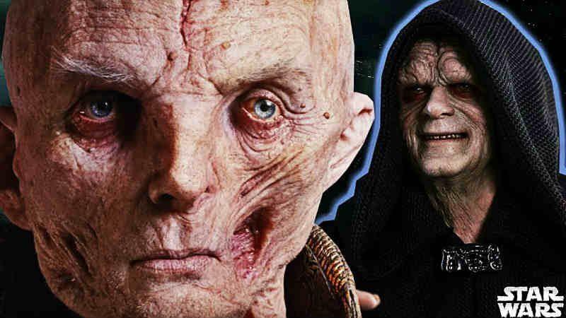 Star Wars snoke primo ordine impero palpatine sidious imperatore collegamenti
