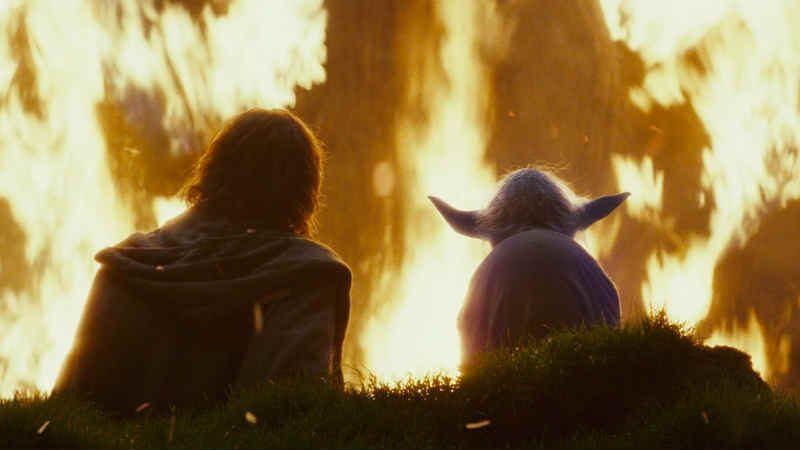 Star Wars the last jedi gli ultimi jedi luke skywalker albero fuoco yoda lezione fallimento fantasma di forza