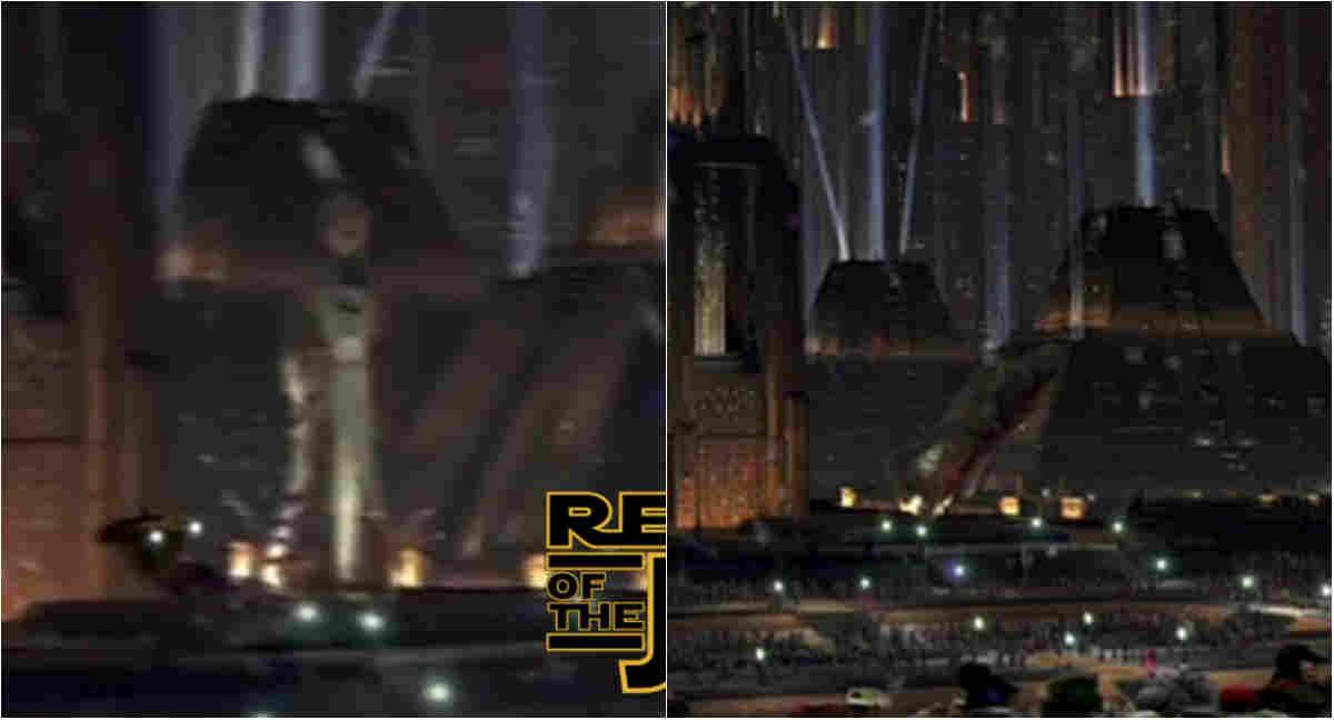 statua palpatine imperatore abbattuta episodio VI star wars ritorno dello jedi