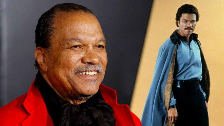 Billy Dee Williams mostra un'immagine di Lando per dare un consiglio