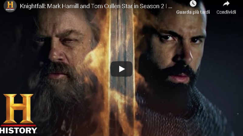 knightfall mark hamill seconda stagione video trailer