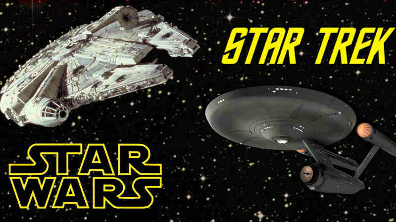 star trek vs star wars plagio