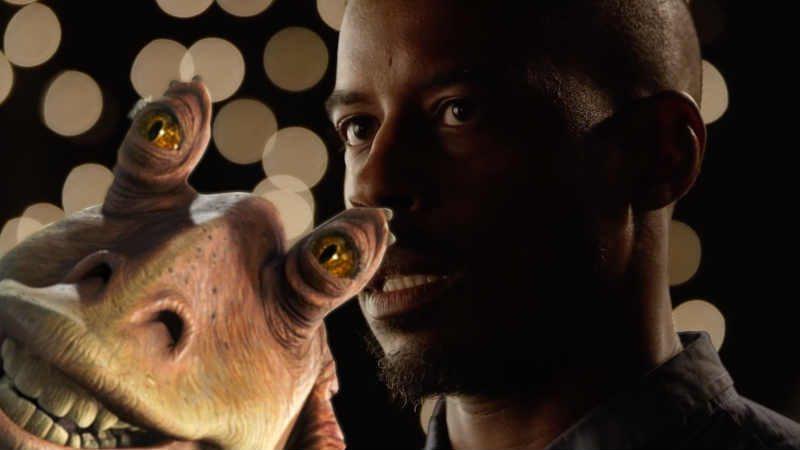 Star Wars ahmed best video jar jar binks Kenobi