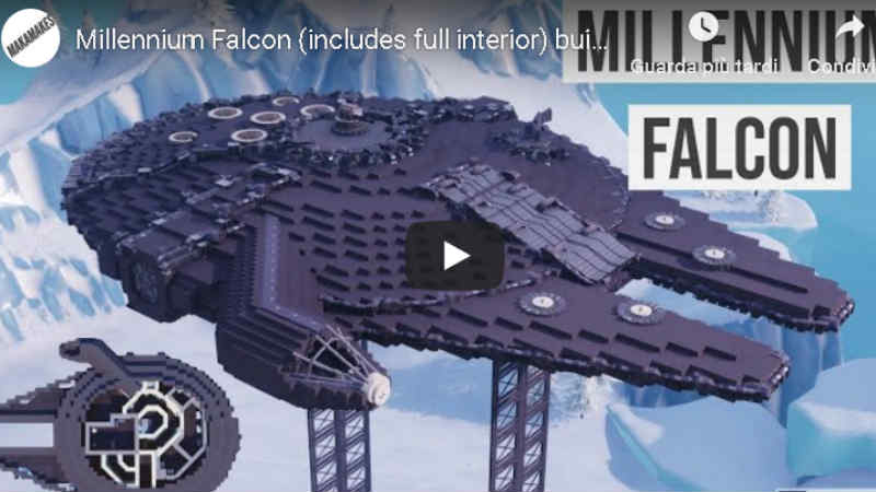 star wars fortnite millennium falcon