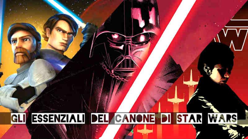 Star Wars prodotti essenziali canone saga canonici guerre stellari libri fumetti serie tv