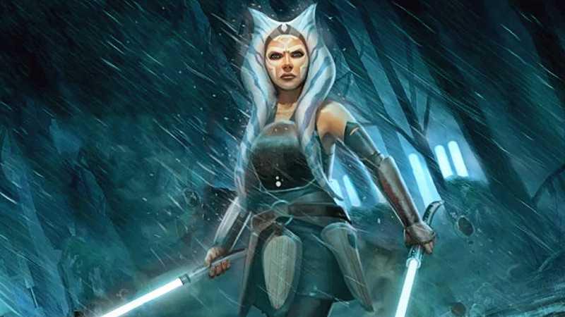 Star Wars ahsoka tano spade bianche laser luce star wars