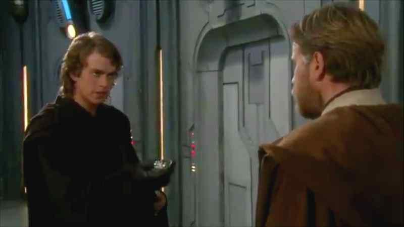 star wars scena tagliata droidi anakin obi wan episodio iii la vendetta dei sith