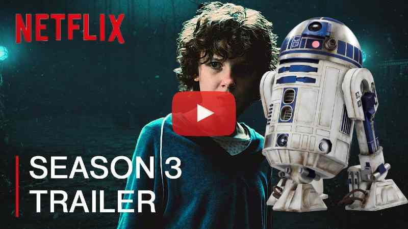 stranger things star wars trailer terza stagione r2d2