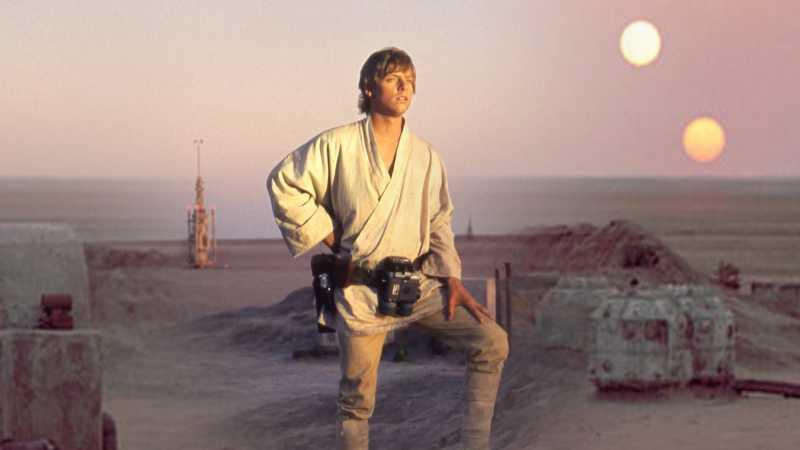 Star Wars tatooine tramonto due soli guerre stellari luke skywalker