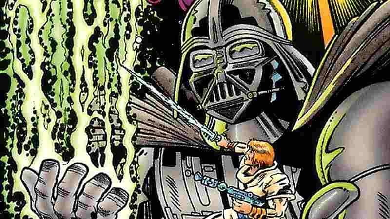star wars jack kirby disegno darth vader guerre stellari luke skywalker