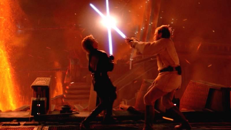 Star Wars Episodio III Anakin e Kenobi Mustafar duello