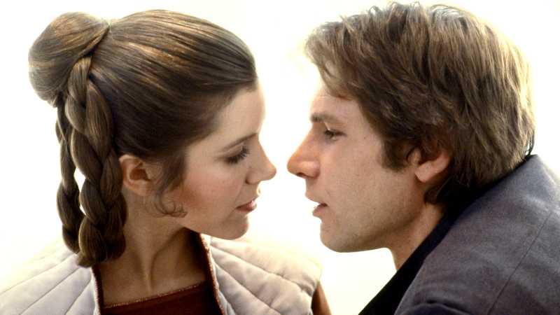 Star Wars Leia Organa Han Solo bacio(1)