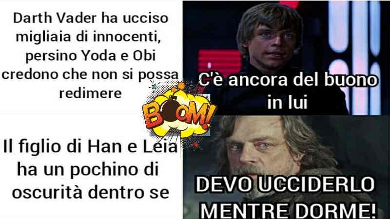 Star Wars Meme Luke Skywalker sbagliato