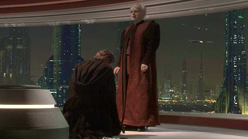 Star Wars concezione di Anakin Skywalker Palpatine scena tagliata
