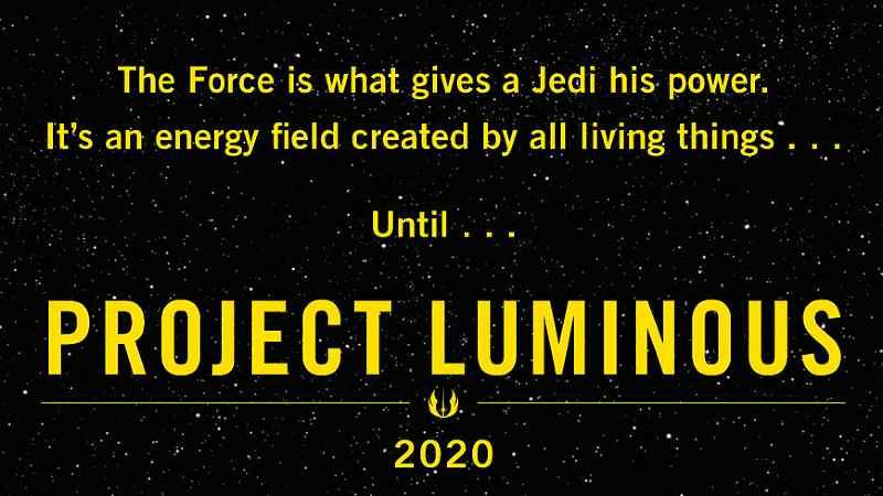 Project Luminous Star Wars Banner Progetto Luminoso